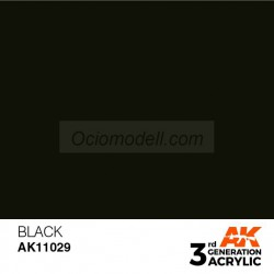 Acrílicos de 3rd Generación, BLACK – INTENSE. Bote 17 ml. Marca Ak-Interactive. Ref: Ak11029.