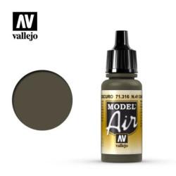 Acrilico Model air, N.41 Verde Oliva Oscuro. Bote 17 ml. Marca Vallejo. Ref: 71.316.