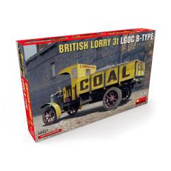 BRITISH LORRY 3T LGOC B-TYPE. Escala 1:35. Marca Miniart. Ref: 38027.