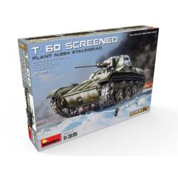 T-60 SCREENED (PLANT NO.264 STALINGRAD) INTERIOR KIT. Escala 1:35. Marca Miniart. Ref: 35237.
