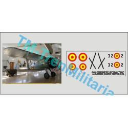 """Calcas Avión Polikarpov I-15 """" CHATO """" 32-2. Verde Museo de Cuatro Vientos. Escala 1:48. Marca Trenmilitaria. Ref: 000_5574."""