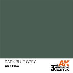 Acrílicos de 3rd Generación,  DARK BLUE -GREY  – STANDARD. Bote 17 ml. Marca Ak-Interactive. Ref: Ak11164.