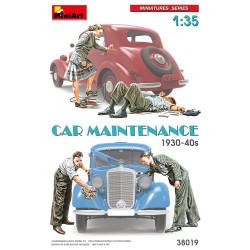 CAR MAINTENANCE 1930-40s. Escala 1:35. Marca Miniart. Ref: 38019.
