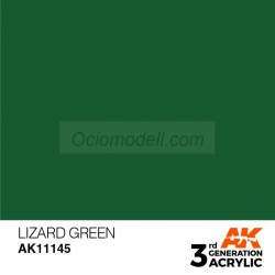 Acrílicos de 3rd Generación,   LIZARD GREEN – STANDARD. Bote 17 ml. Marca Ak-Interactive. Ref: Ak11145.