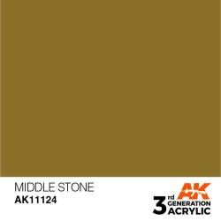 Acrílicos de 3rd Generación, MIDDLE STONE– STANDARD. Bote 17 ml. Marca Ak-Interactive. Ref: Ak11124.