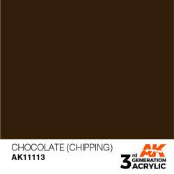 Acrílicos de 3rd Generación, CHOCOLATE (CHIPPING) – STANDARD. Bote 17 ml. Marca Ak-Interactive. Ref: Ak11113.