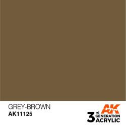 Acrílicos de 3rd Generación,  GREY-BROWN– STANDARD. Bote 17 ml. Marca Ak-Interactive. Ref: Ak11125.