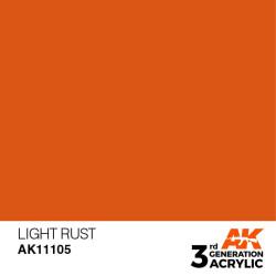 Acrílicos de 3rd Generación,   LIGHT RUST  – STANDARD. Bote 17 ml. Marca Ak-Interactive. Ref: Ak11105.