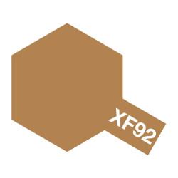 Yellow-Brown Mate (DAK 1941), (81792). Bote 10 ml. Marca Tamiya. Ref: XF-92.