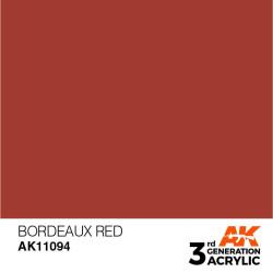 Acrílicos de 3rd General, BORDEAUX RED– STANDARD. Bote 17 ml. Marca Ak-Interactive. Ref: Ak11094.