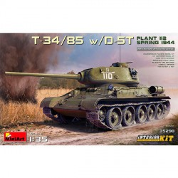 T-34/85 w/D-5T PLANT 112 1944. Int KIT. Escala 1:35. Marca Miniart. Ref: 35290.
