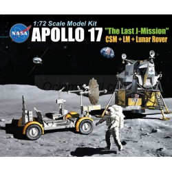 "Apollo 17 ""the Last J-Mission"" CSM + LM + Lunar Rover. Escala 1:72. Marca Dragon. Ref: 11015."