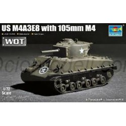 Tanque US. M4A3E8 with 105mm M4. Escala 1:72. Marca Trumpeter. Ref: 07168.
