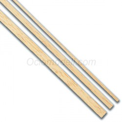Listones madera Tilo 5 x 5 x 1000 mm. 5 unidades. Marca Dismoer. Ref: 35029.