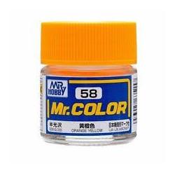 Lacquer paint Orange Yellow. Bote 10 ml. Marca MR.Hobby. Ref: C058.