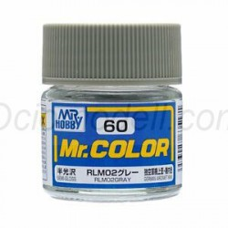 Lacquer paint RLM02 Gray. Bote 10 ml. Marca MR.Hobby. Ref: C060.