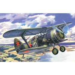 Soviet Biplane Fighter I-15 BIS ( WWII ). Escala 1:72. Marca ICM. Ref: 72012.