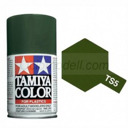 Spray OLIVE DRAB 1 Mate (85005). Bote 100 ml. Marca Tamiya. Ref: TS-5.