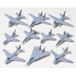 U.S. Navy Aircraft Set. Escala 1:350. Marca Tamiya. Ref: 78006.