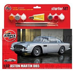 Aston Martin DB5 Silver, Medium Starter. Escala 1:32. Marca Airfix. Ref: A50089B.