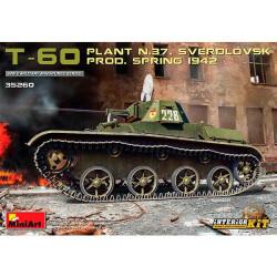 T-60 Plant .37 Prod.Spring 42. Escala 1:35. Marca Miniart. Ref: 35260.