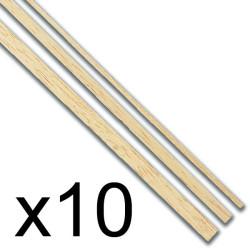 Listones madera Tilo  1 x 10 x 1000 mm. Paquete de 10 unidades. Marca Amati. Ref: 222110.