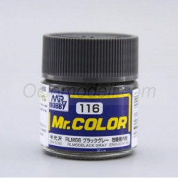 Lacquer paint RLM66 Black Gray. Bote 10 ml. Marca MR.Hobby. Ref: C116.