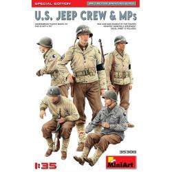 Figuras y MPs. para Jeep U.S. Edición Especial. Escala 1:35. Marca Miniart. Ref: 35308.