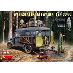 Camión WERKSTATTKRAFTWAGEN TYP-03-30. Escala 1:35. Marca Miniart. Ref: 35359.