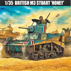 Tanque BRITISH M3 STUART HONEY, Light tank. Escala 1:35. Marca Academy. Ref: 13270.