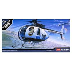 Hugues 500D Police Helicopter. Escala 1:48. Marca Academy. Ref: 12249.