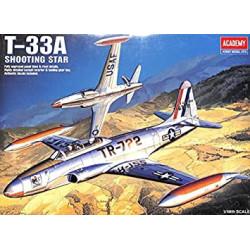 Lockheed T-33A Shooting Star. Escala 1:48. Marca Academy. Ref: 12284.