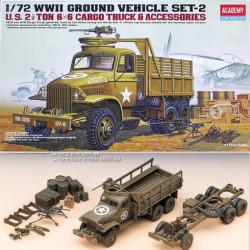 U.S. GMC CCKW-353 Field cargo truck & accesories. Escala 1:72. Marca Academy. Ref: 13402.