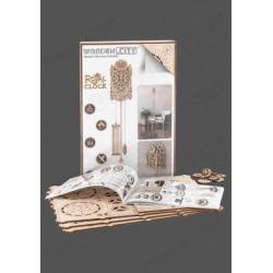 Reloj Real, madera contrachapada, Kit de montaje. Marca Wooden City. Ref: 57314.