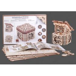 Caja Misteriosa, madera contrachapada, Kit de montaje. Marca Wooden City. Ref: 57315.