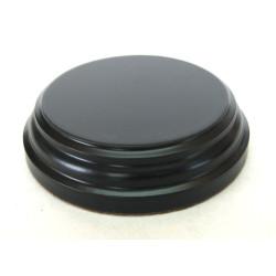 Peana Pedestal 20 mm de altura, parte superior 6.5 cm. Realizado en MDF, lacado Negro. Marca Peanas.net. Ref: 8802N.