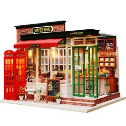 Miniature Dollhouse, cafetería Inglesa. Marca Diy House. Ref: M015A.