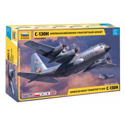American heavy transport plane C-130H. Escala 1:72. Marca Zvezda. Ref: 7321.