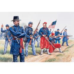 Infantería de la Unión y Zuavos, Guerra civil Americana. Escala 1:72. Marca Italeri. Ref: 6012.