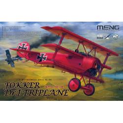 Fokker Dr.I Triplane + busto de Manfred von Richthofen. Escala 1:32. Marca Meng. Ref: QS-002S.
