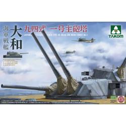 TORRE Type 64 ACORAZADO YAMATO (3 x 460 mm). Escala 1:72. Marca Takom. Ref: 5010.