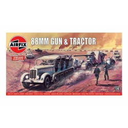 88mm Gun & Tractor. Escala 1:76. Marca Airfix. Ref: A02303V.
