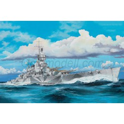 Italian Navy Battleship RN Vittorio Veneto 1940s. Escala: 1:350. Marca: Trumpeter. Ref: 05320.