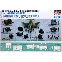 Conjunto de equipo de tierra aeroespacial de EE. UU.( X72-6 ). Escala 1:24. Marca Hasegawa. Ref: 35006.