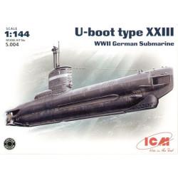 U-Boat Tipo XXIII, Submarino alemán de la Segunda Guerra Mundial. Escala: 1:144. Marca: ICM. Ref: S.004.