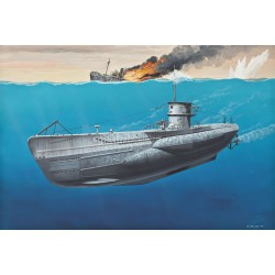 Submarino alemán Tipo VII C (Buques civiles). Escala: 1:350. Marca: Revell. Ref: 05093.