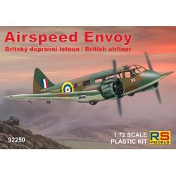 Airspeed Envoy 4 v. para España, Nanking, RAF. Escala 1:72. Marca RSmodels. Ref: 92250.