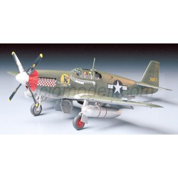 North American P-51B Mustang. Escala 1:48. Marca Tamiya. Ref: 61042.