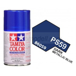 Spray Policarbonato  Dark metallic blue. Bote 100 ml. Marca Tamiya. Ref: PS-59.