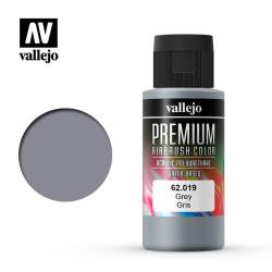 Premium Gris. Premium Airbrush Color. Bote 60 ml. Marca Vallejo. Ref: 62019.